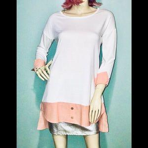 VANILLA BAY • Mock Button-Up Tunic / (S) NWOT!